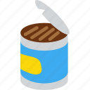 can, canned, canned food, food, vegetable icon