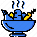 boiled, cooking, food, gastronomy, vegetables icon