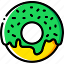 cooking, donut, food, gastronomy, glazed icon