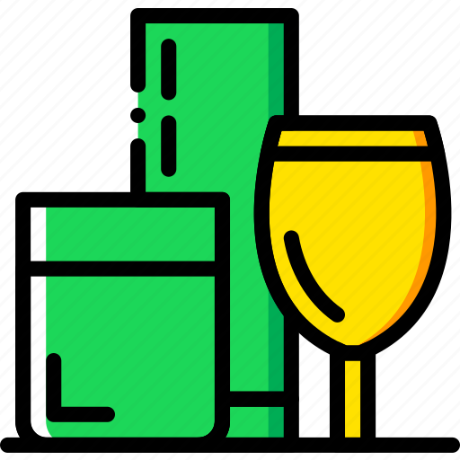 cooking, food, gastronomy, glasses icon