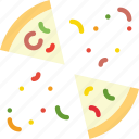 cooking, food, gastronomy, pizza, sliced