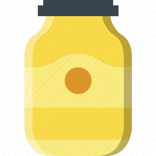 cooking, food, gastronomy, jar, moustard icon