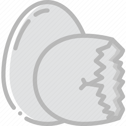 cooking, egg, food, gastronomy, shell icon