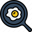 cooking, eggs, food, fried, gastronomy icon