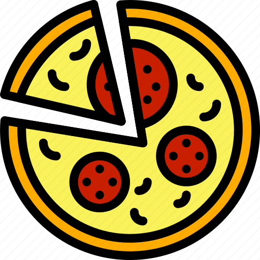 cooking, food, gastronomy, pizza, sliced icon