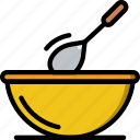 cooking, dough, food, gastronomy, stir icon