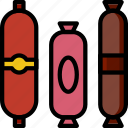 cooking, food, gastronomy, salami icon