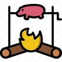 cooking, food, gastronomy, pig, roasted icon