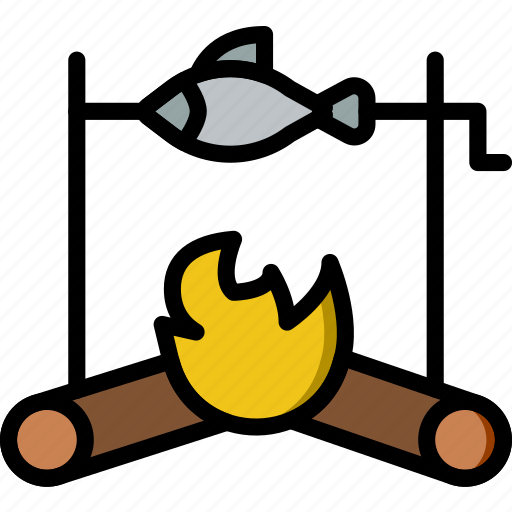 cooking, fish, food, gastronomy, roasted icon