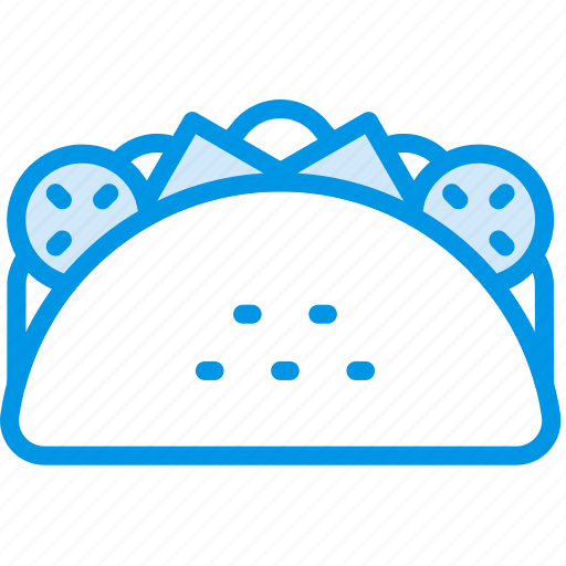 cooking, food, gastronomy, taco icon