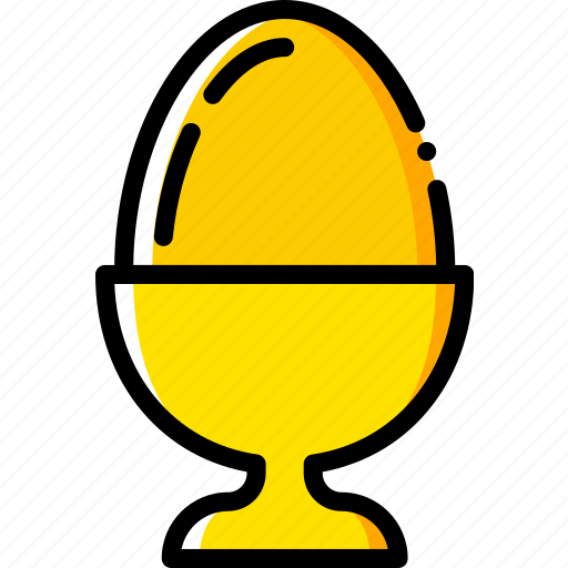 boiled, cooking, egg, food, gastronomy icon