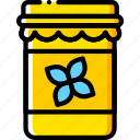 cooking, food, gastronomy, jar, vanilla icon