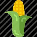 corn, diet, food, vegan, vegetarian icon