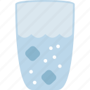 cold, drink, glass, ice, water icon