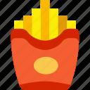 fast food, food, fries, potatoes, restaurant icon