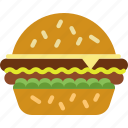 fast food, food, hamburguer, meat, unhealthy icon