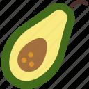 avocado, diet, food, fruit, vegan icon