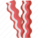 bacon, bacon strips, bacons, food, strips icon