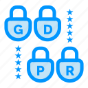 gdpr, lock, security icon