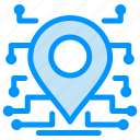 location, processor, secure, security icon