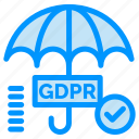 gdpr, secure, security, tick icon