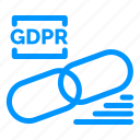 clip, gdpr, lock, secure, security icon