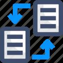 data, data transfer, file transfer, sync, transfer icon