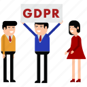 ad, advertisement, gdpr, personal, poster icon