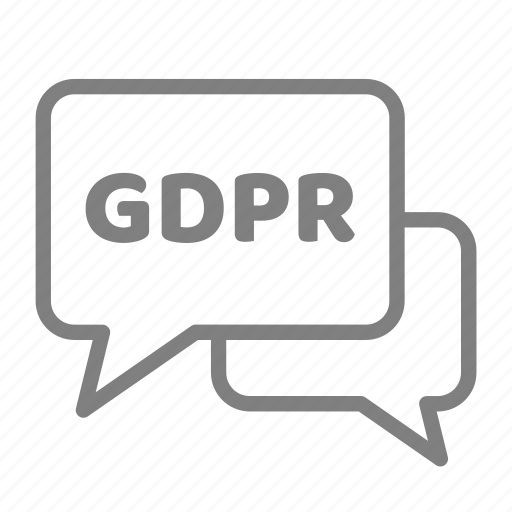 advise, bubble, compliance, contract, gdpr, message, privacy icon