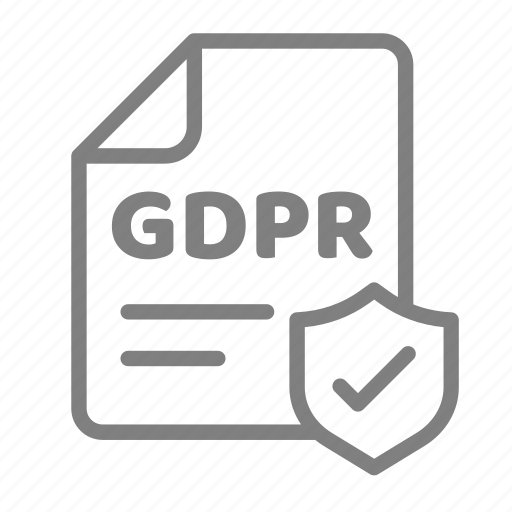 data, gdpr, info, policy, privacy, protection, secure icon