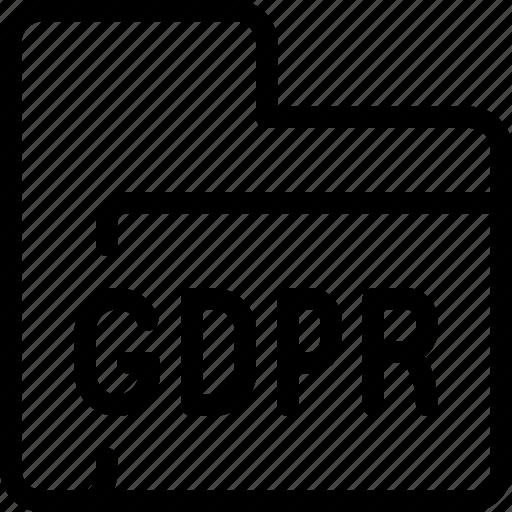eu, file, folder, gdpr, secure, security icon
