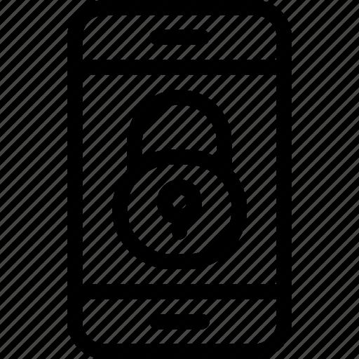 eu, gdpr, padlock, phone, secure, security icon, smartphone icon icon
