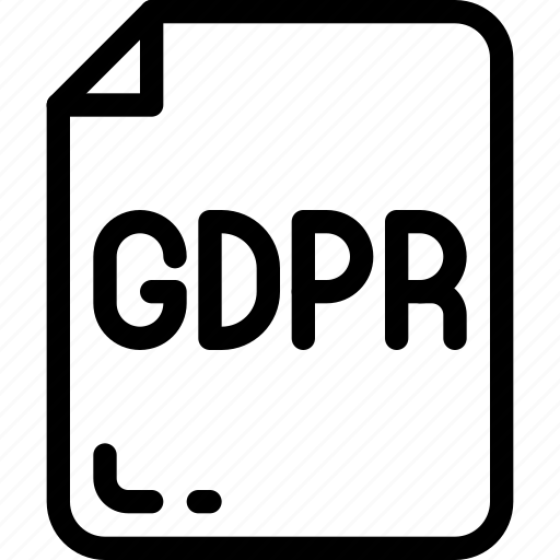 ducument, eu, file, gdpr, secure icon