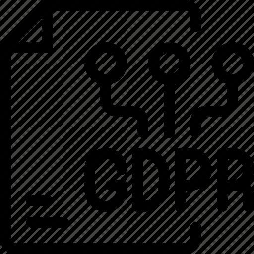 data, eu, file, gdpr, paper, secure, security icon icon