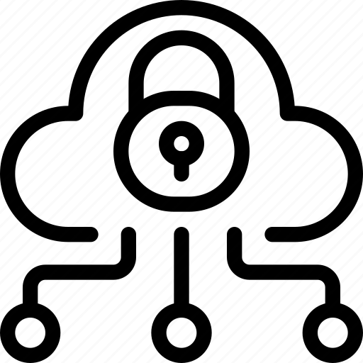 cloud, eu, gdpr, lock, padlock, secure, security icon icon