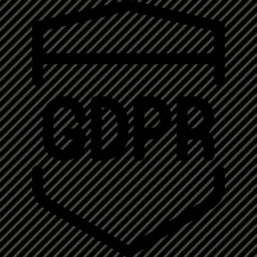 eu, gdpr, secure, security icon, shield, shield icon icon