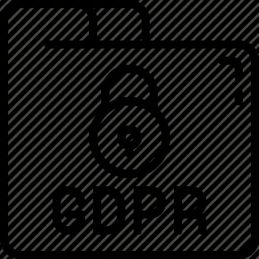 eu, folder, gdpr, padlock, protect, secure, security icon icon