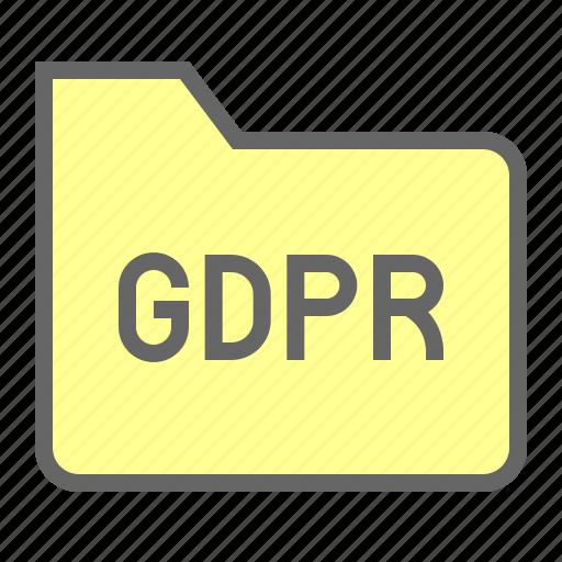 file, folder, gdpr, protection, regulation icon
