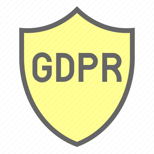 gdpr, law, protection, regulation, safety, shield icon
