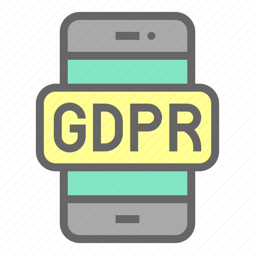 cellphone, gdpr, mobile, phone, protection, regulation icon