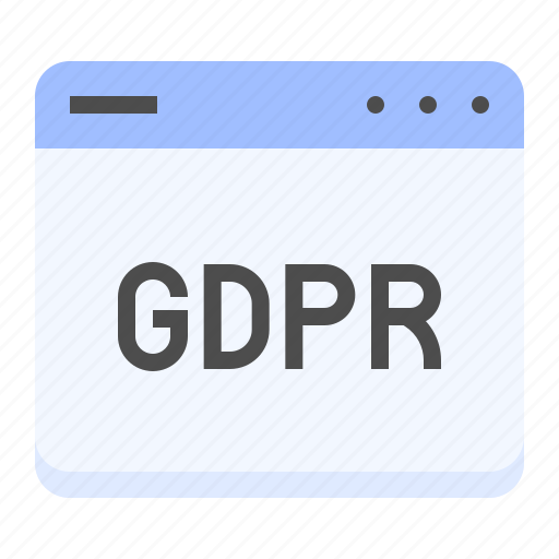 gdpr, interface, law, protection, regulation, window icon