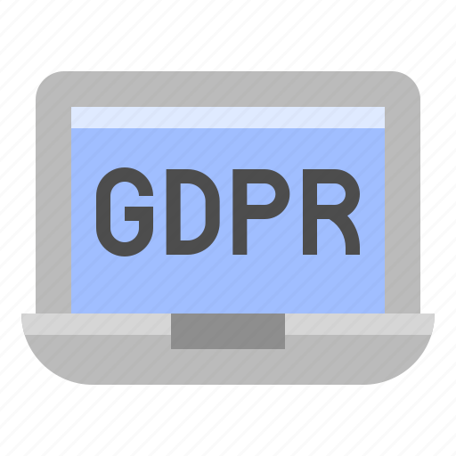 computer, gdpr, laptop, notebook, protection, regulation icon