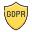 compliance, gdpr, protection, regulation, safety, shield icon