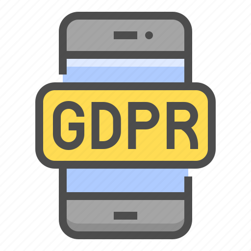 cellphone, compliance, gdpr, mobile, protection, regulation icon