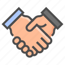 compliance, coop, gdpr, hand, handshake, regulation icon