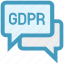 chat, chatting, conversation, messages gdpr, text icon