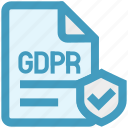 accept, document, gdpr, page, protection, security, shield
