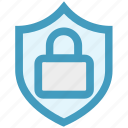 badge, lock, protect, safe, safety, security, shield icon