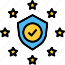 compliance, eu, gdpr, protection, security, shield icon