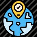 globel, gps, location, pin, world